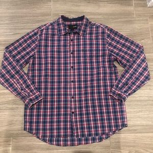 Hurley Button Down Plaid Top - Size Large